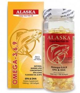 Sản phẩm Bổ mắt, tốt cho tim mạch. Alaska OMEGA 3,6,9 EPA & DHA – Made in USA