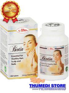 Biotin – Thuốc mọc tóc, chống rụng tóc giup duy trì mái tóc dày óng mượt