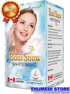 BoniSnow Whitening – Hỗ trợ làm trắng da, giảm thâm nám, tàn nhang