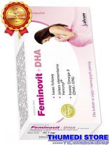 Feminovit + DHA – Bổ sung DHA, vitamin thiết yếu, sắt cho phụ nữ có thai và cho con bú