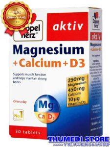 Magnesium + Calcium + D3 – Bổ sung vi chất cần thiết cho cơ và xương