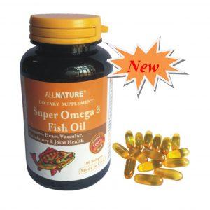 Super Omega 3 Fish Oil – Giúp tăng cường thị lực, giảm cholesterol,  phòng bệnh xơ vữa mạch máu và bệnh lý  tim mạch.