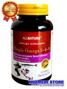 Triple Omega 3-6-9 – Phòng ngừa các bệnh về tim mạch, mỡ máu…