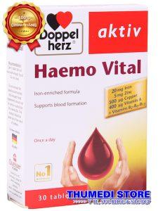 Haemo Vital – Thuốc sắt cho bà bầu, bổ sung sắt hiệu quả, dự phòng thiếu máu