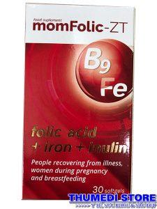 mom Folic ZT – Bổ sung acid folic cho phụ nữ mang thai