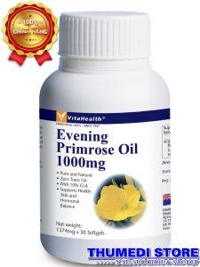 Evening Primrose Oil 1000mg – Giúp cân bằng nội tiết nữ, tốt với phụ nữ tiền mãn kinh.