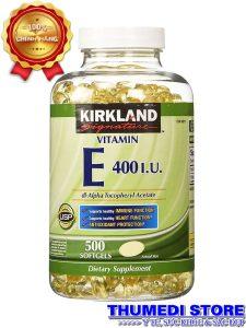 Vitamin E 400 IU Kirkland Signature – Giúp làm đẹp da, ngăn ngừa và làm chậm quá trình lão hóa da