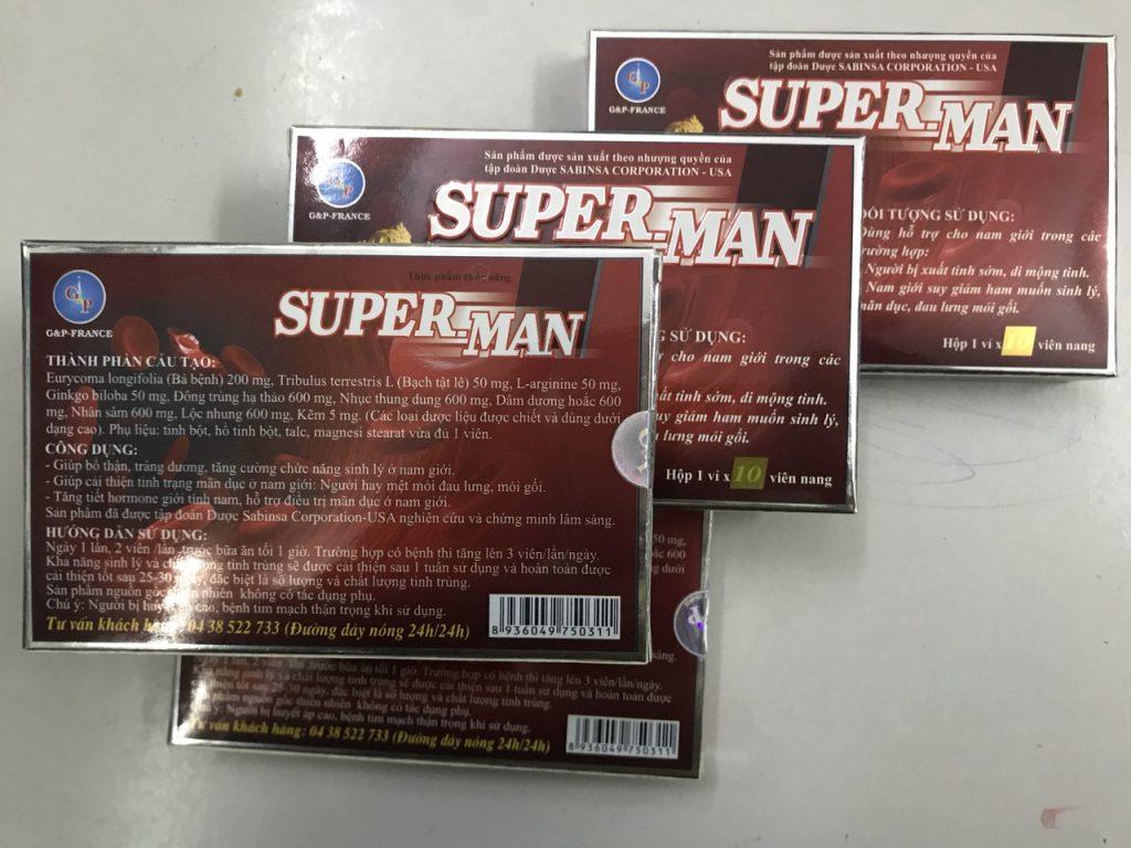 Kết quả hình ảnh cho SUPER MAN thuốc