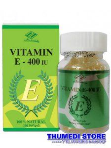 Natural Vitamin E 400IU – Giúp dưỡng ẩm, chống lão hóa và đẹp da.  Made in USA
