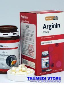 Arginin 500 mg (Hộp 30 viên) – Hỗ trợ chức năng gan